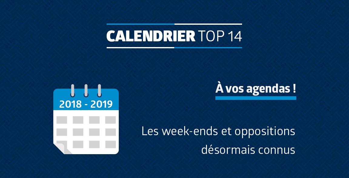 Calendrier Top 14 Saison 2020 2019.Decouvrez Le Calendrier Top 14 2018 2019 Mhr